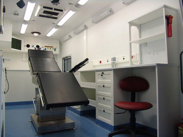 Surgical emergency mobile health van EMS Mobil Sistemler