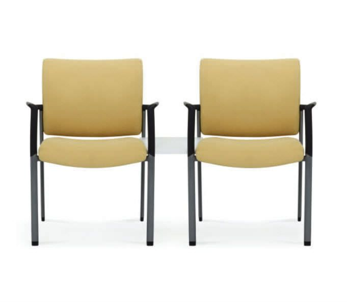 Waiting room chair / beam / with table / 2 seater Mozie Tandem series Encore