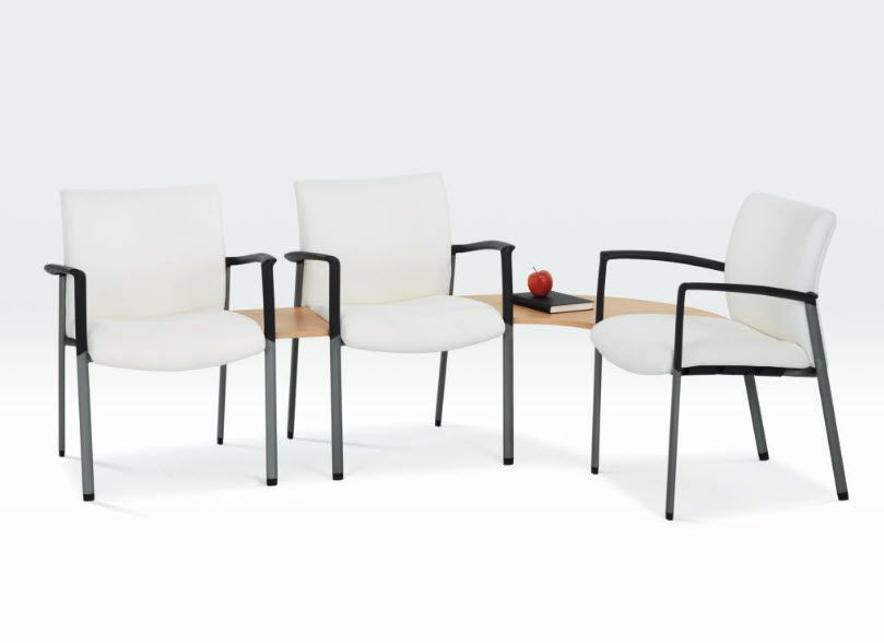 Beam chair / for waiting room / with table / 3 seater Mozie Tandem series Encore
