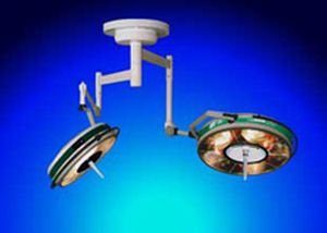 Halogen surgical light / ceiling-mounted / 2-arm BHC-502/302p, 110 000/80 000 LUX FAMED Lódz