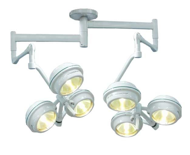 Halogen surgical light / ceiling-mounted / 2-arm MEDILUX BHC-375p/375p 120 000/120 000 LUX FAMED Lódz