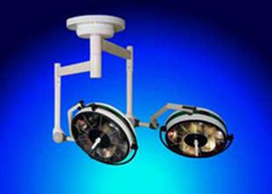 Halogen surgical light / ceiling-mounted / 2-arm BHC-302/302, 80 000/80 000 LUX FAMED Lódz