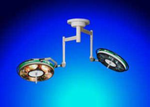 Halogen surgical light / ceiling-mounted / 2-arm BHC-502/502, 110 000/110 000 LUX FAMED Lódz