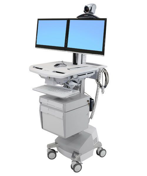 Battery-powered telemedicine cart / with drawer / secure / medical StyleView® SV44-56E1-1 ergotron