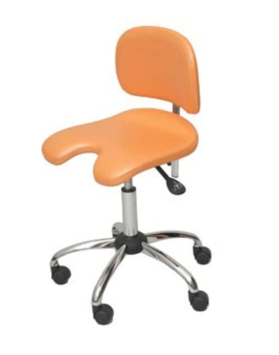 Dental stool / height-adjustable / on casters / with backrest FD-215, FD-235 FINNDENT OY