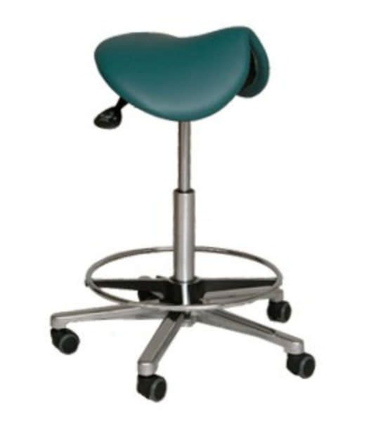 Dental stool / on casters / height-adjustable / saddle seat FD-225, FD-230, FD-245, FD-250 FINNDENT OY