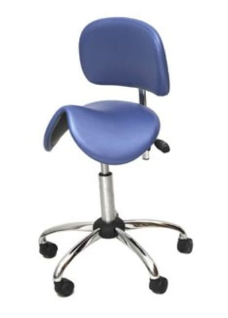 Dental stool / on casters / height-adjustable / with backrest FD-270 FINNDENT OY