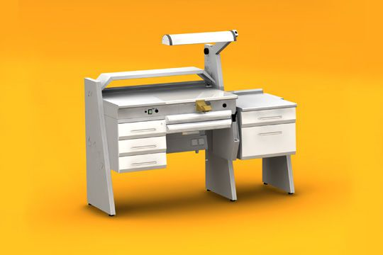 Dental laboratory workstation / 1-station SOLE1/I + SOBF+ SOFT ERIO