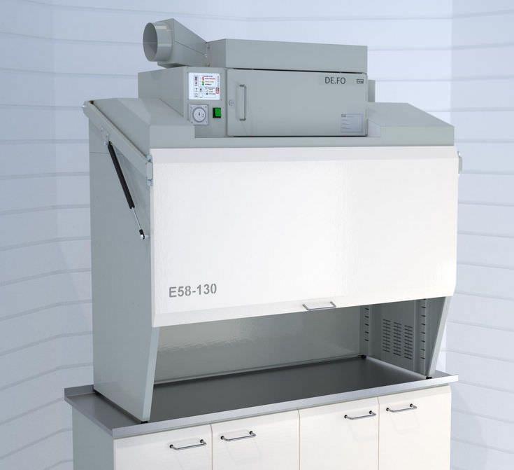 Suction fume hood / dental laboratory / bench-top DE.FO ERIO