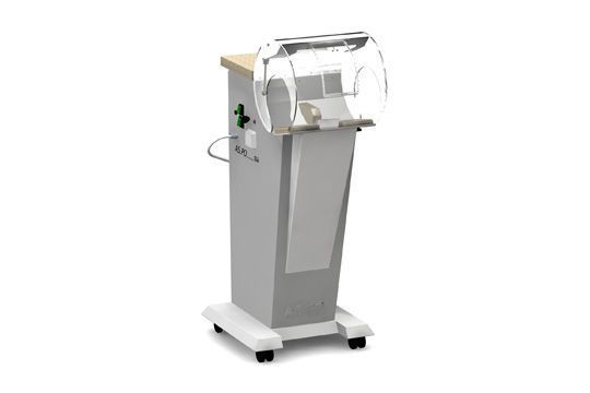 Dental laboratory workstation / with hood / 1-station AS.PO ERIO