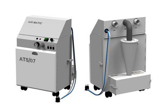 Aspirating vacuum pump / dental / mobile ATS/07M AIR MATIC ERIO