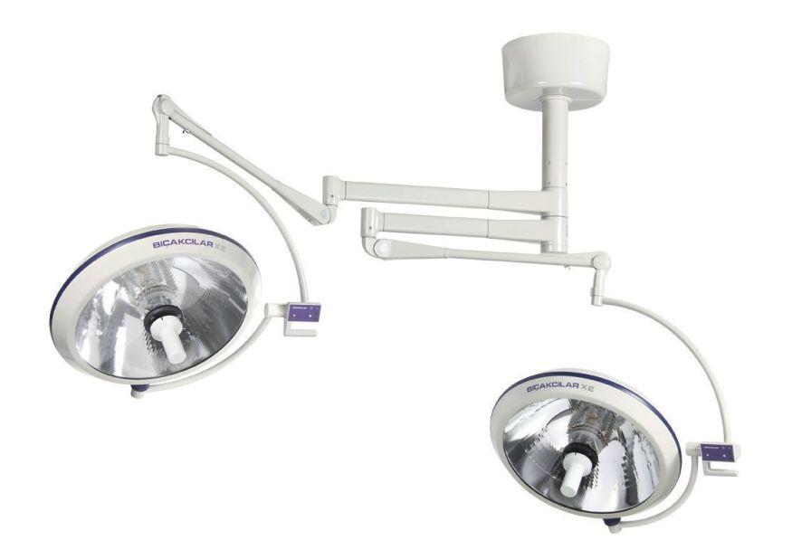 Halogen surgical light / ceiling-mounted / 2-arm 250000 Lux | Luxline 2770 Bicakcilar