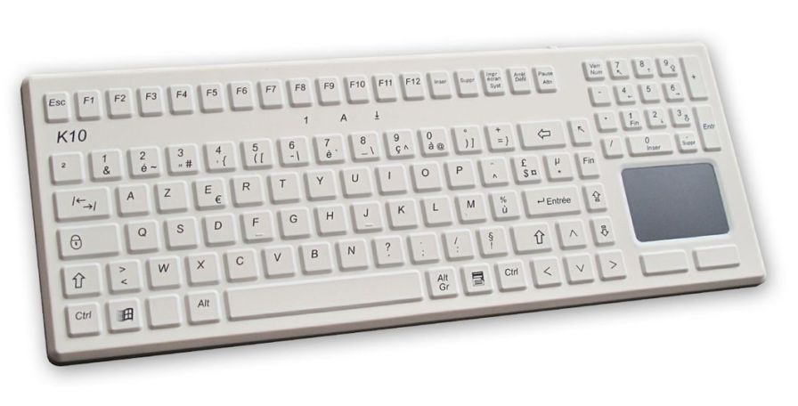 Washable medical keyboard / USB / disinfectable / with touchpad K10-MED EVO BOARDS