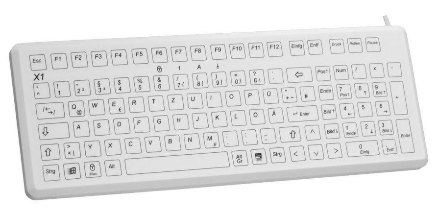 USB medical keyboard / washable X1-MED EVO BOARDS
