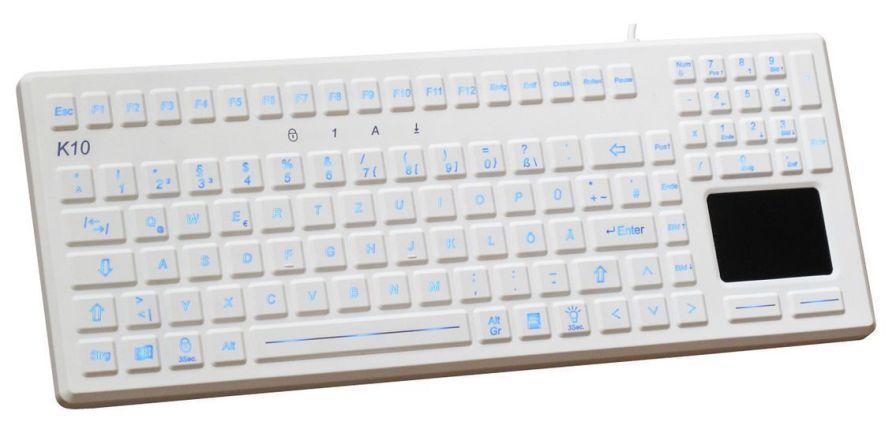 Washable medical keyboard / USB / backlit / with touchpad K10-MED-BL EVO BOARDS