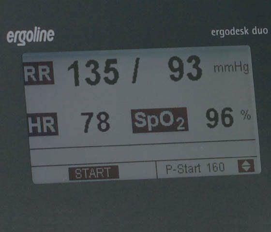 Automatic blood pressure monitor / electronic / arm 40 - 260 mmHg, 35 - 240 bpm | ergodesk duo Ergoline