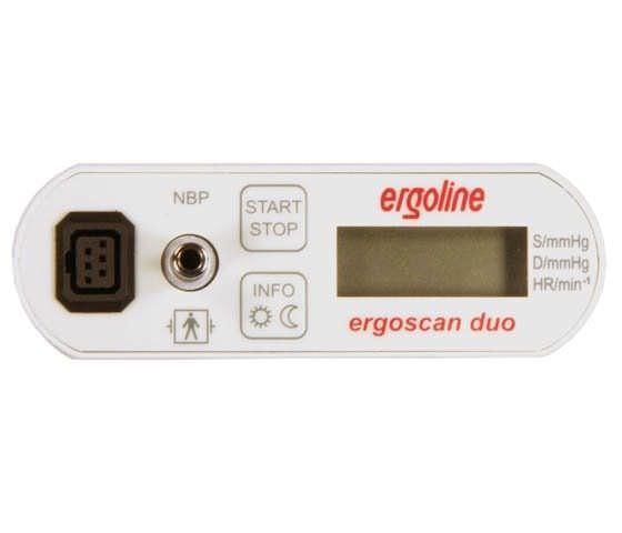 Ambulatory respiratory polygraph 40 - 260 rpm, 35 - 240 bpm, 45 - 100 % SpO2 | ergoscan duo Ergoline