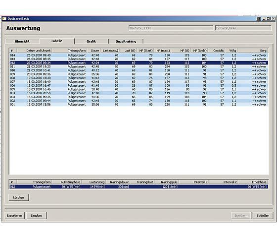 Analysis software / reporting / for cardiology / medical opticare basic Ergoline