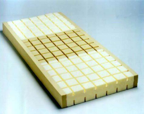 Anti-decubitus mattress / for hospital beds / foam / waffled KUBUFLEX EUROFOAM