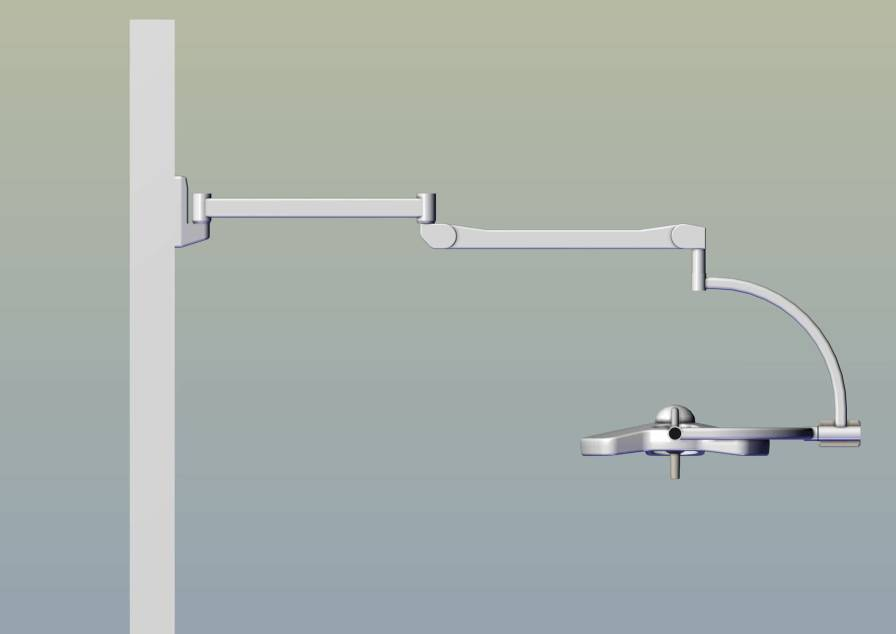 LED surgical light / wall-mounted / 1-arm W 16ET Etkin Medical Devices Ltd.