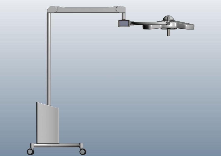 LED surgical light / mobile / 1-arm M 16ET Etkin Medical Devices Ltd.