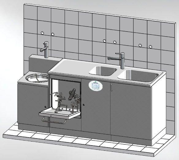 Medical washer-disinfector MASTER 1950.3 DT Discher Technik