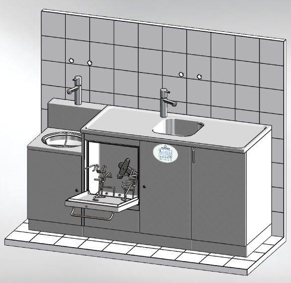 Medical washer-disinfector MASTER 1800.1 DT Discher Technik
