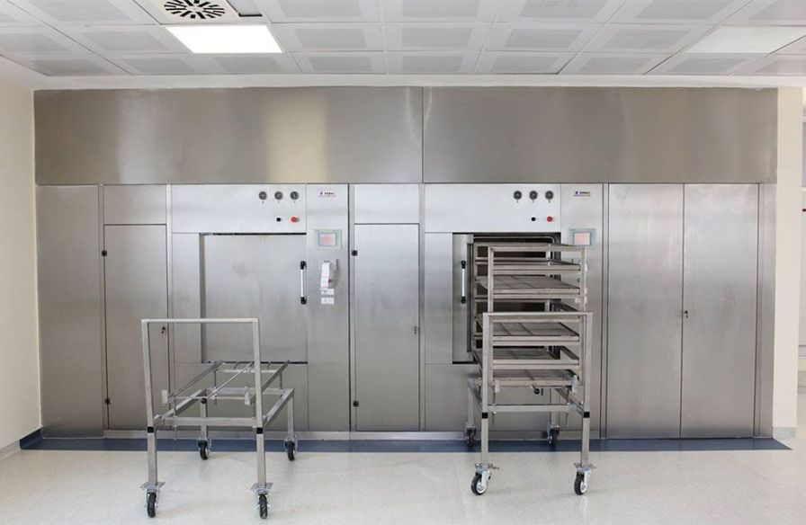 Medical autoclave / vertical / with sliding door ETC Sterilization