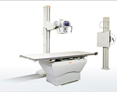 Radiography system (X-ray radiology) / analog / for multipurpose radiography / with vertical bucky stand Q-Rad Carestream