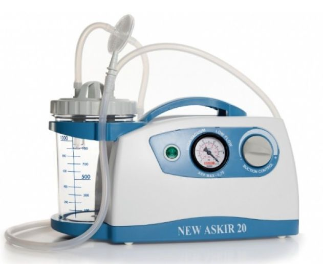 Electric surgical suction pump / handheld / for minor surgery ASKIR 20 CA-MI