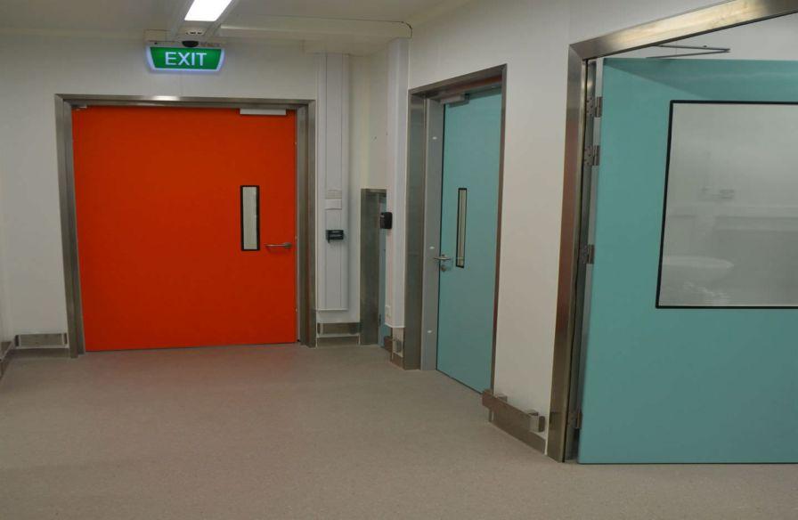 Laboratory door / hospital / swinging / fire F Type Dortek