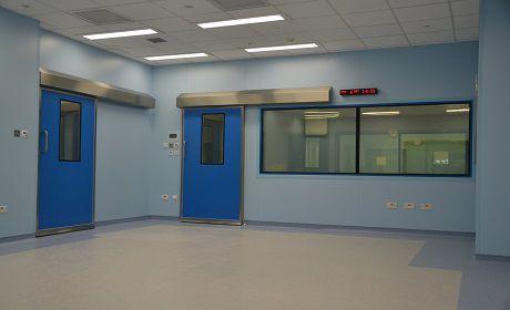 Hospital door / sliding / lead-lined / fire K Type Dortek