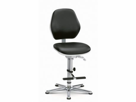 Medical stool / electrical / height-adjustable / with backrest Cleanroom Basic 3 Global Stole