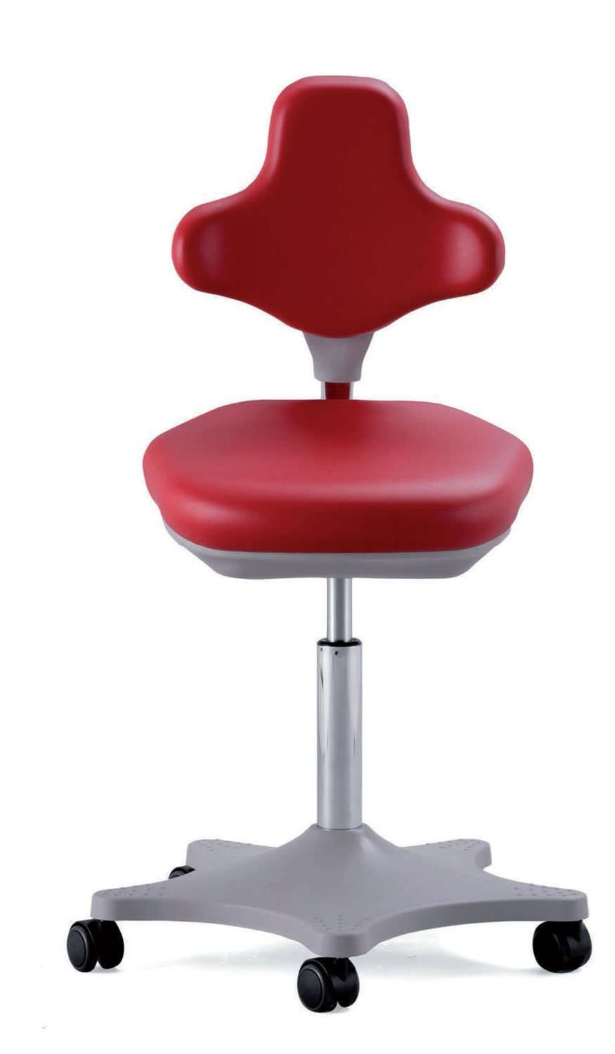 Medical stool / height-adjustable / on casters / with backrest Lab Global Stole