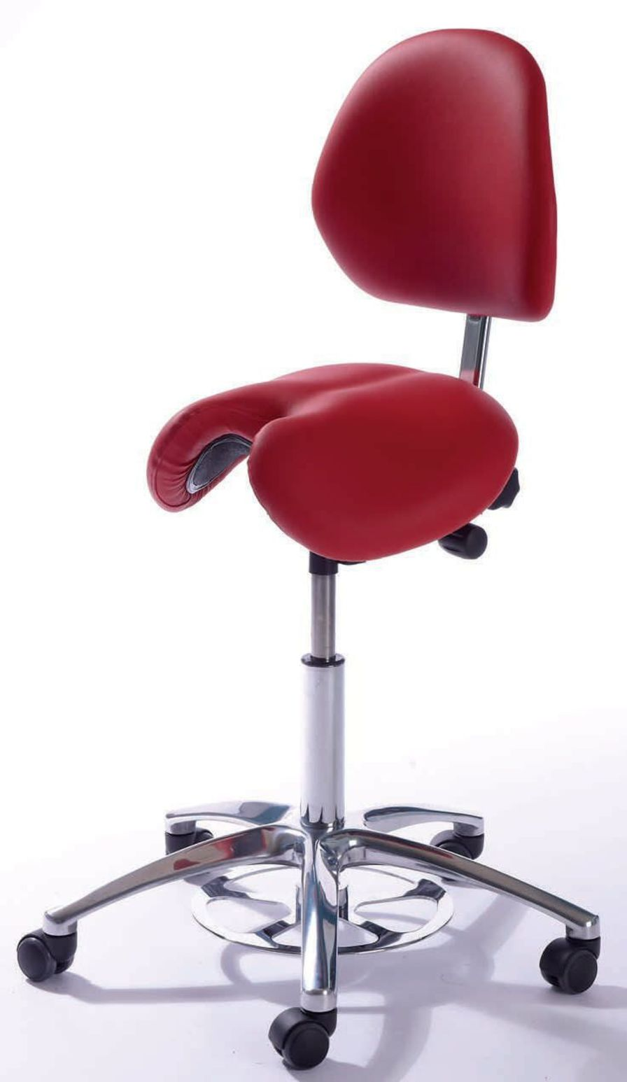 Medical stool / height-adjustable / on casters / with backrest CL Jolly Global Stole