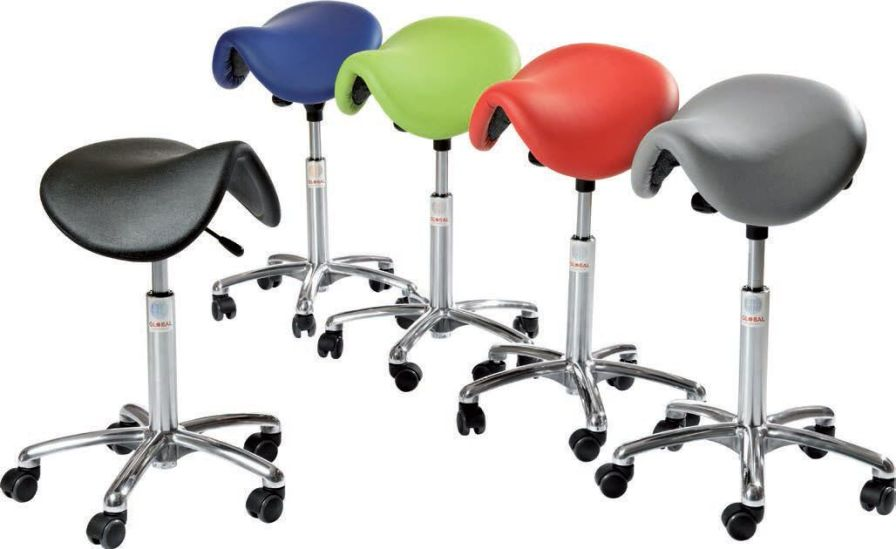 Medical stool / on casters / height-adjustable / saddle seat Dalton Global Stole