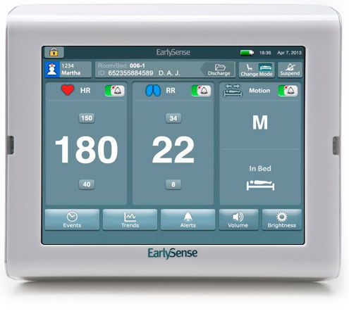 Vital signs monitor with touchscreen EarlySense Vitals EarlySense