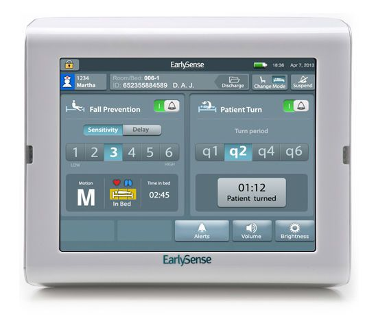 Fall monitor EarlySense Safety EarlySense