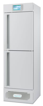 Laboratory refrigerator-freezer / upright / with automatic defrost / 2-door +2 °C ... +15 °C, -24 °C ... -10 °C, 330 L | LABOR 2T 400 C.F. di Ciro Fiocchetti & C. s.n.c.