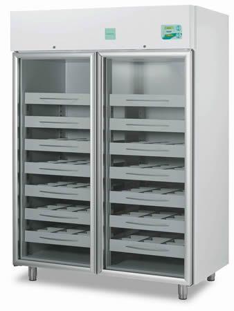 Blood bank refrigerator / cabinet / 2-door 4 °C, 1355 L | EMOTECA 1500 C.F. di Ciro Fiocchetti & C. s.n.c.