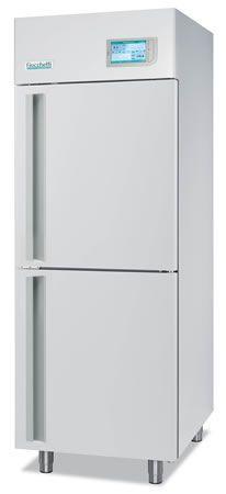 Laboratory refrigerator-freezer / upright / with automatic defrost / 2-door +2 °C ... +15 °C, -24 °C ... -10 °C, 525 L | LABOR 2T 700 C.F. di Ciro Fiocchetti & C. s.n.c.