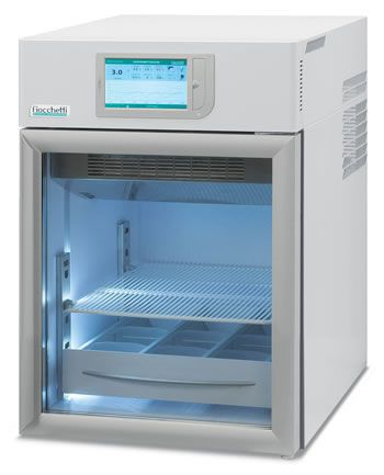 Laboratory refrigerator / cabinet / with automatic defrost / 1-door 2 °C ... 15 °C, 96 L | MEDIKA 100 C.F. di Ciro Fiocchetti & C. s.n.c.