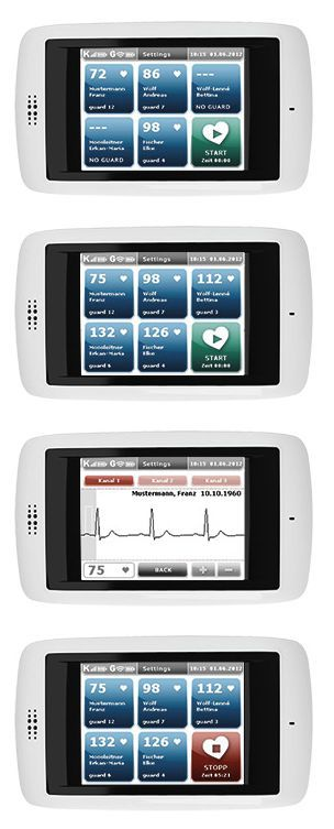 ECG patient monitor / wearable / wireless custo kybe Custo med
