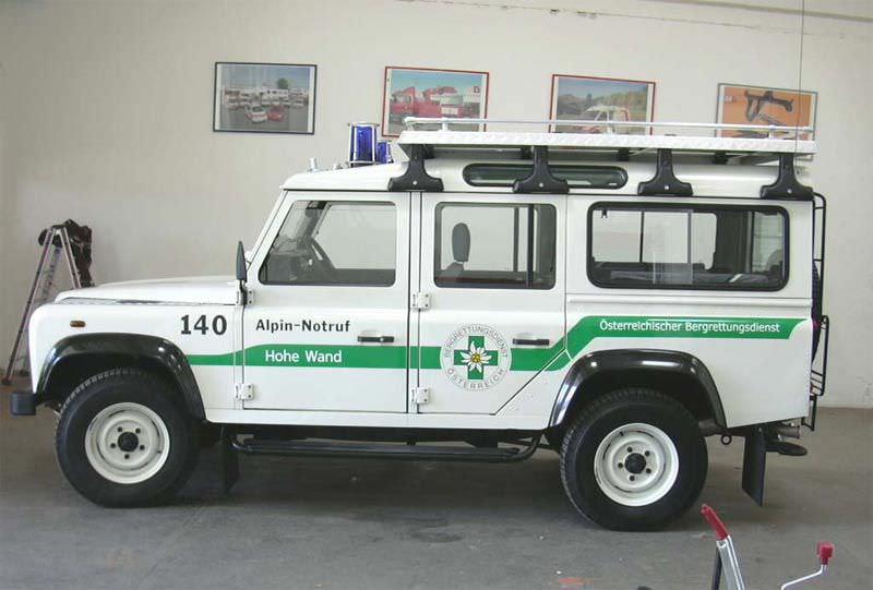 4x4 medical ambulance / off-road Landrover Dlouhy , Fahrzeugbau
