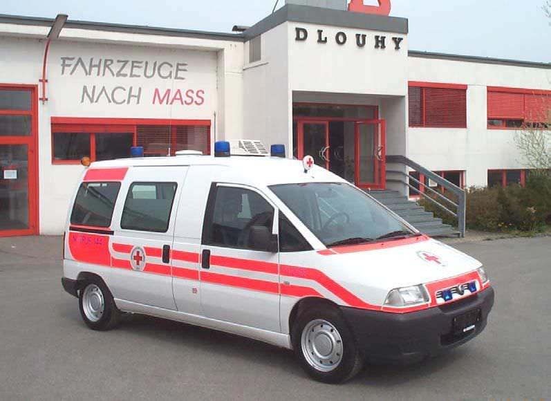 Transport medical ambulance / light van Fiat Scudo Dlouhy , Fahrzeugbau