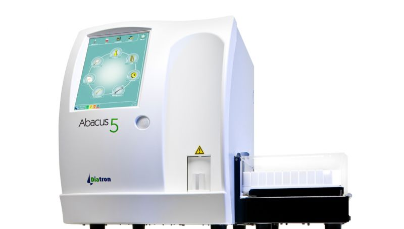Automatic hematology analyzer / 24-parameter / leukocyte distribution / compact 60 tests/h   Abacus 5 Diatron Group