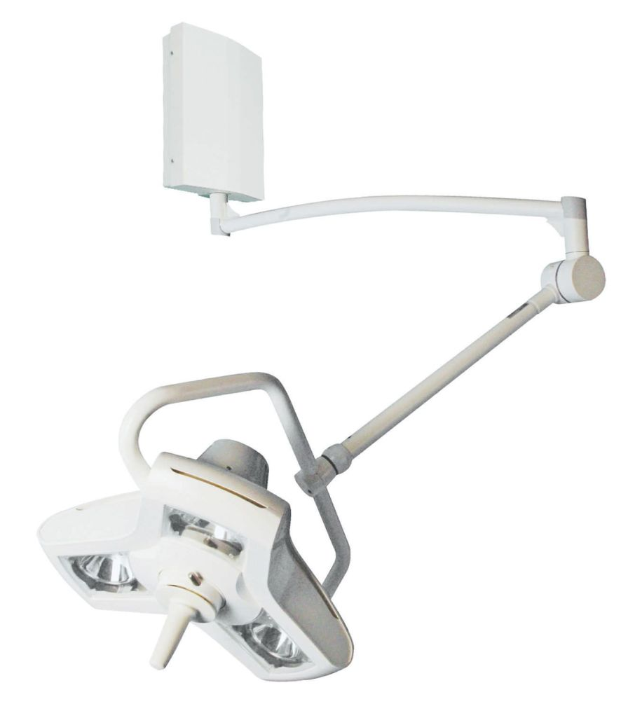 Halogen surgical light / wall-mounted / compact / 1-arm 63 000 lux @ 1 m | AIM-100® Burton Medical