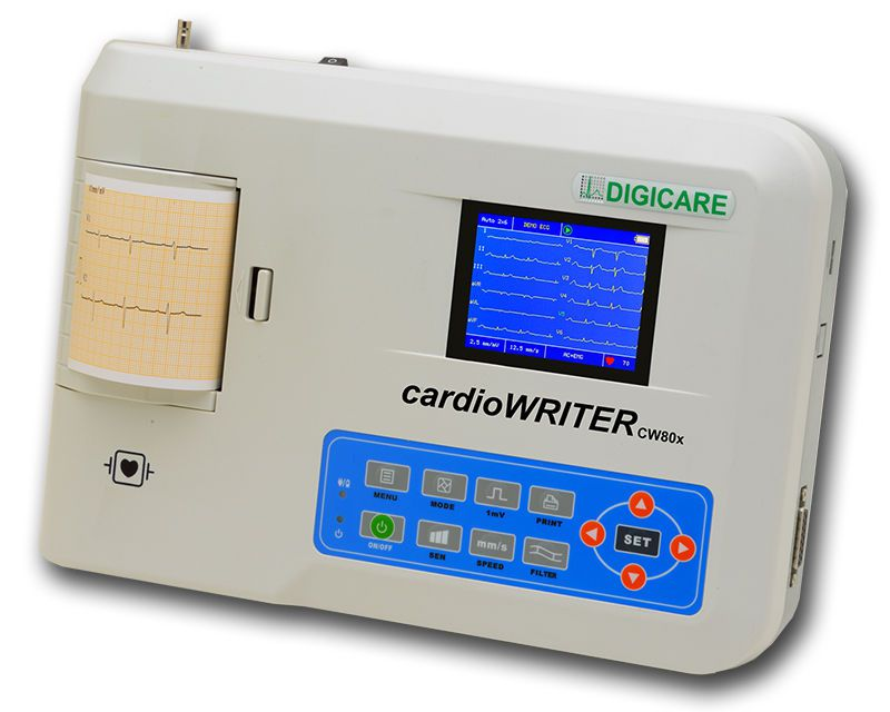 Digital veterinary electrocardiograph cardioWRITER DW80x Digicare Biomedical Technology