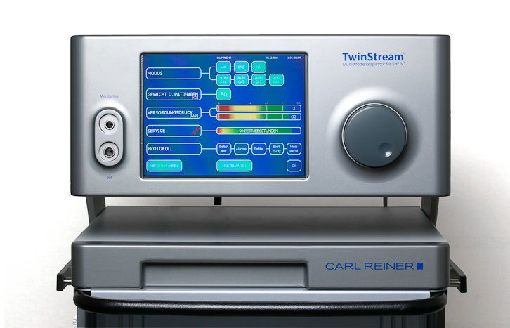 Laryngoscopy jet ventilator / multi-mode TwinStream™ Carl Reiner GmbH
