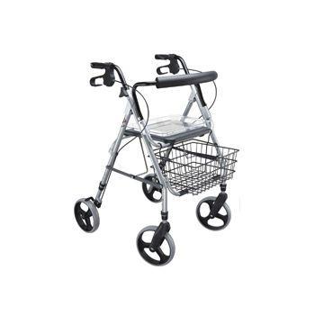 4-caster rollator / height-adjustable / with seat Max. 120 kg | RL-120 VARIO Bischoff & Bischoff